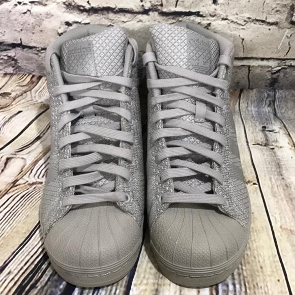 e71391d3b30fb6 adidas Other - Adidas Pro Model Gray Hi Top Mens 7